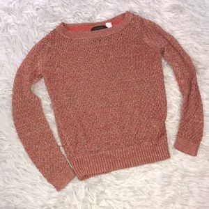 Anthro | Guinevere Pink Sparkly Sweater